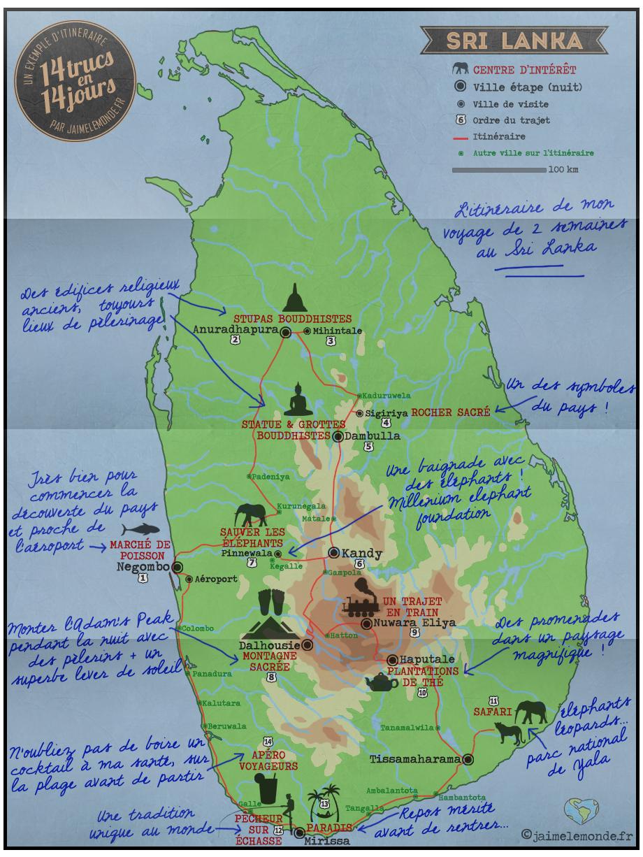 Itinéraire Sri Lanka