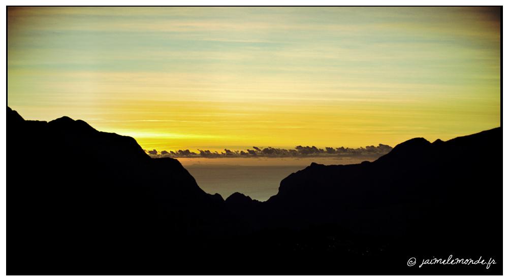 La vue du matin depuis le gîte Jean Robert à Grand Ilet