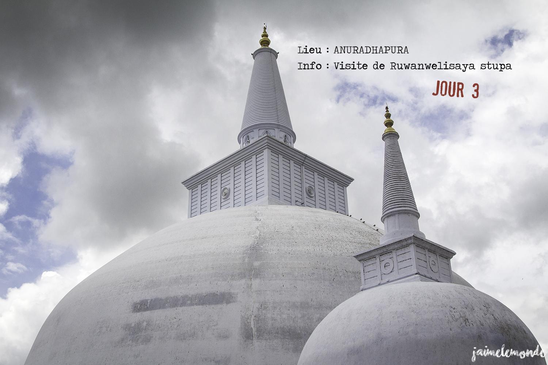 Voyage Sri Lanka - Itinéraire Jour 3 - 4 Anuradhapura - Visite du stupa Ruwanwelisaya - ©jaimelemonde
