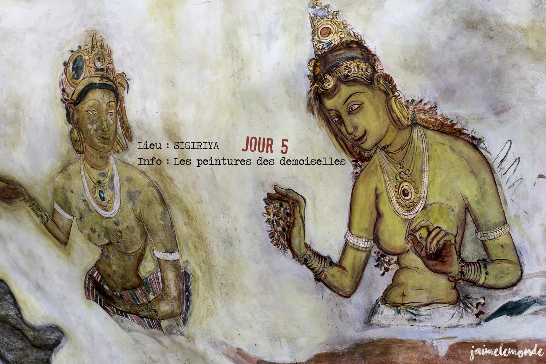 Voyage Sri Lanka - Itinéraire Jour 5 - 3 Sigriya - Peintures des demoiselles - ©jaimelemonde