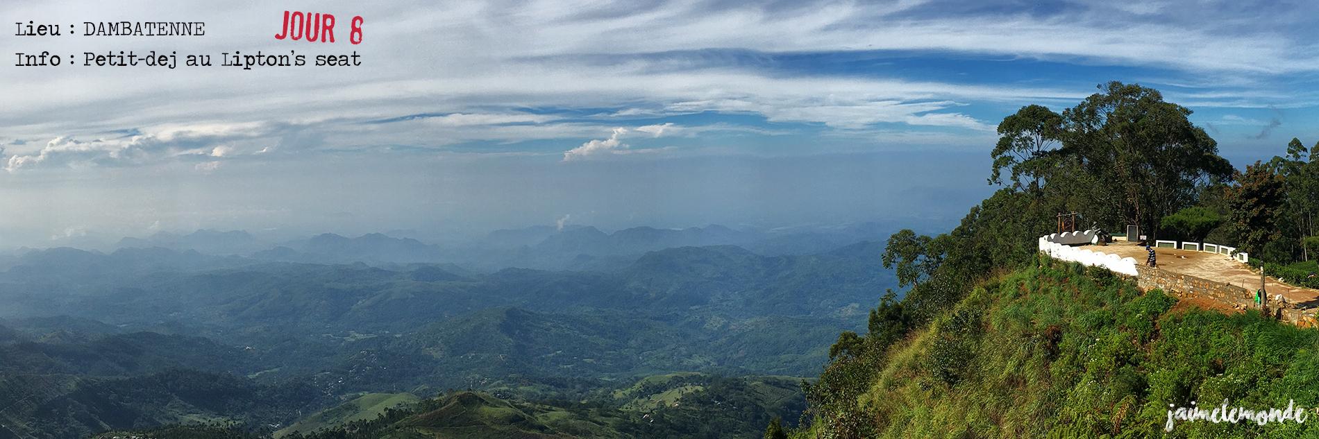 Voyage Sri Lanka - Itinéraire Jour 8 - 1 Dambatenne - Petit-dej au Lipton's seat - ©jaimelemonde