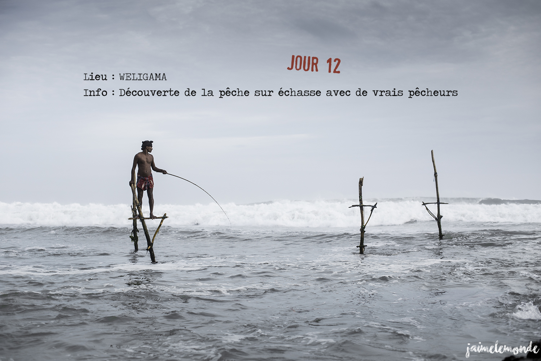 Voyage Sri Lanka - Itinéraire Jour 12 - 2 Weligama - Séance de pêche sur échasse - ©jaimelemonde