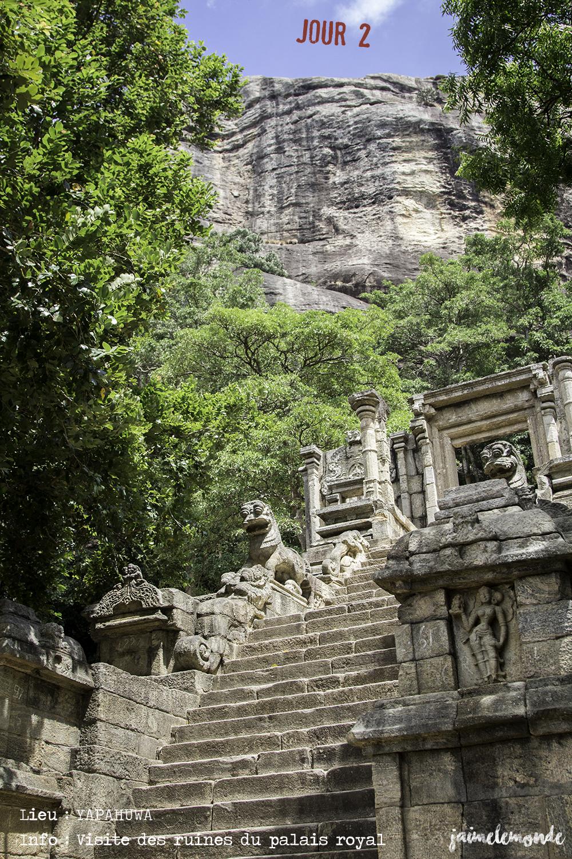 Voyage Sri Lanka - Itinéraire Jour 2 - 4 Yapahuwa - Visite des ruines - ©jaimelemonde