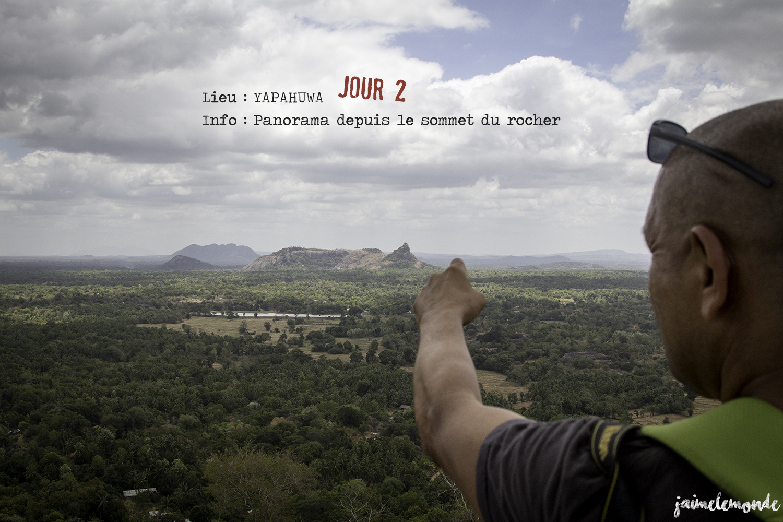 Voyage Sri Lanka - Itinéraire Jour 2 - 7 Yapahuwa - Panorama au sommet - ©jaimelemonde