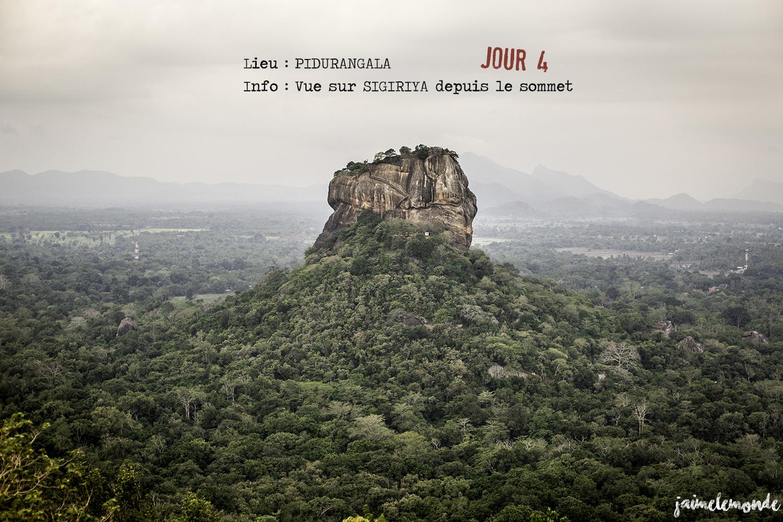 Voyage Sri Lanka - Itinéraire Jour 4 - 6 Pidurangala - Vue sur Sigiriya - ©jaimelemonde