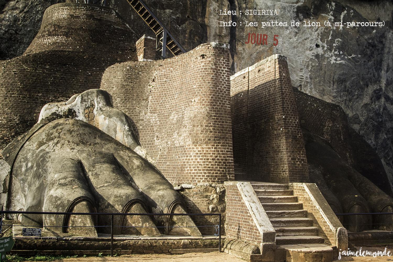 Voyage Sri Lanka - Itinéraire Jour 5 - 4 Sigriya - L'escalier du lion - ©jaimelemonde
